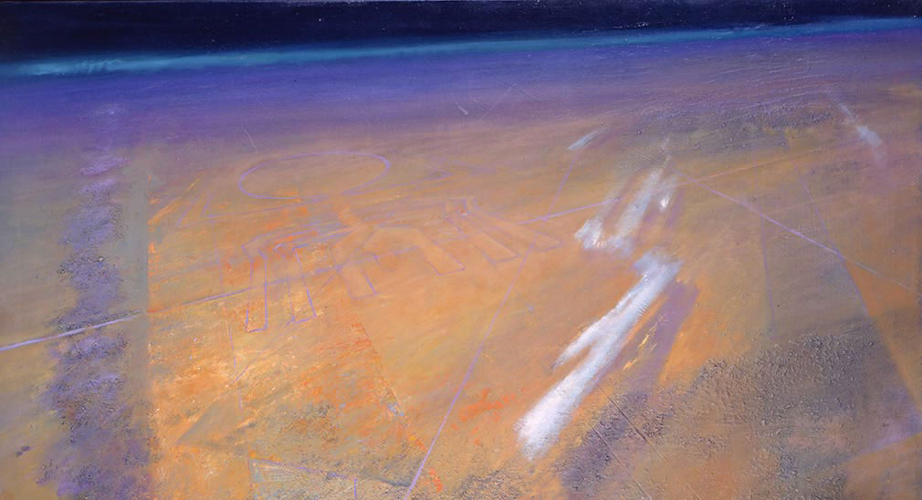 'View From Above' by the artist John Harris, from 'The Secret History of the Earth'.